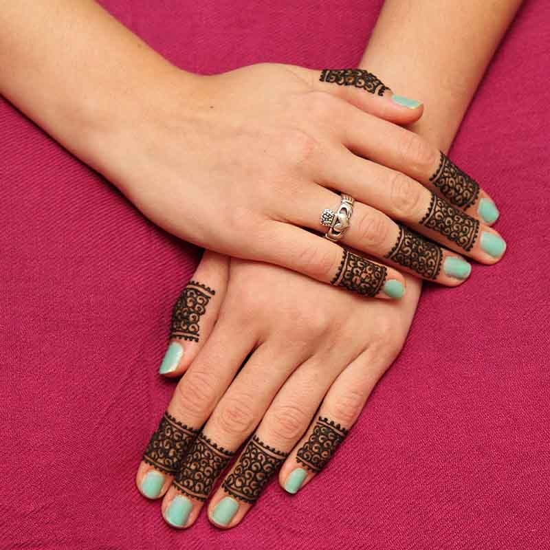 Henna Finger Bands