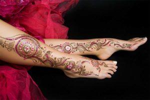 Henna with Glitter & Stones