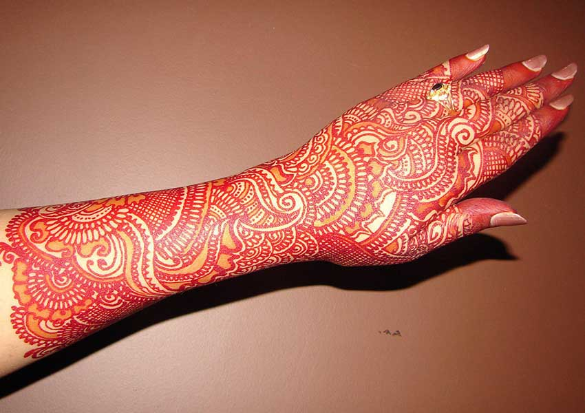 Mehndi Bridal Mehndi Design : Arabic bridal mehndi designs to try livinghours