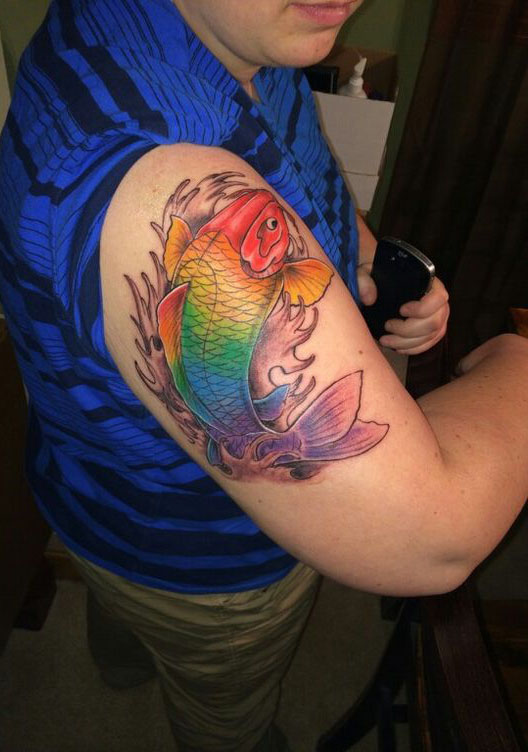 Multicolored Koi
