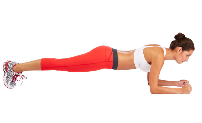 Plank With Glute Squeeze