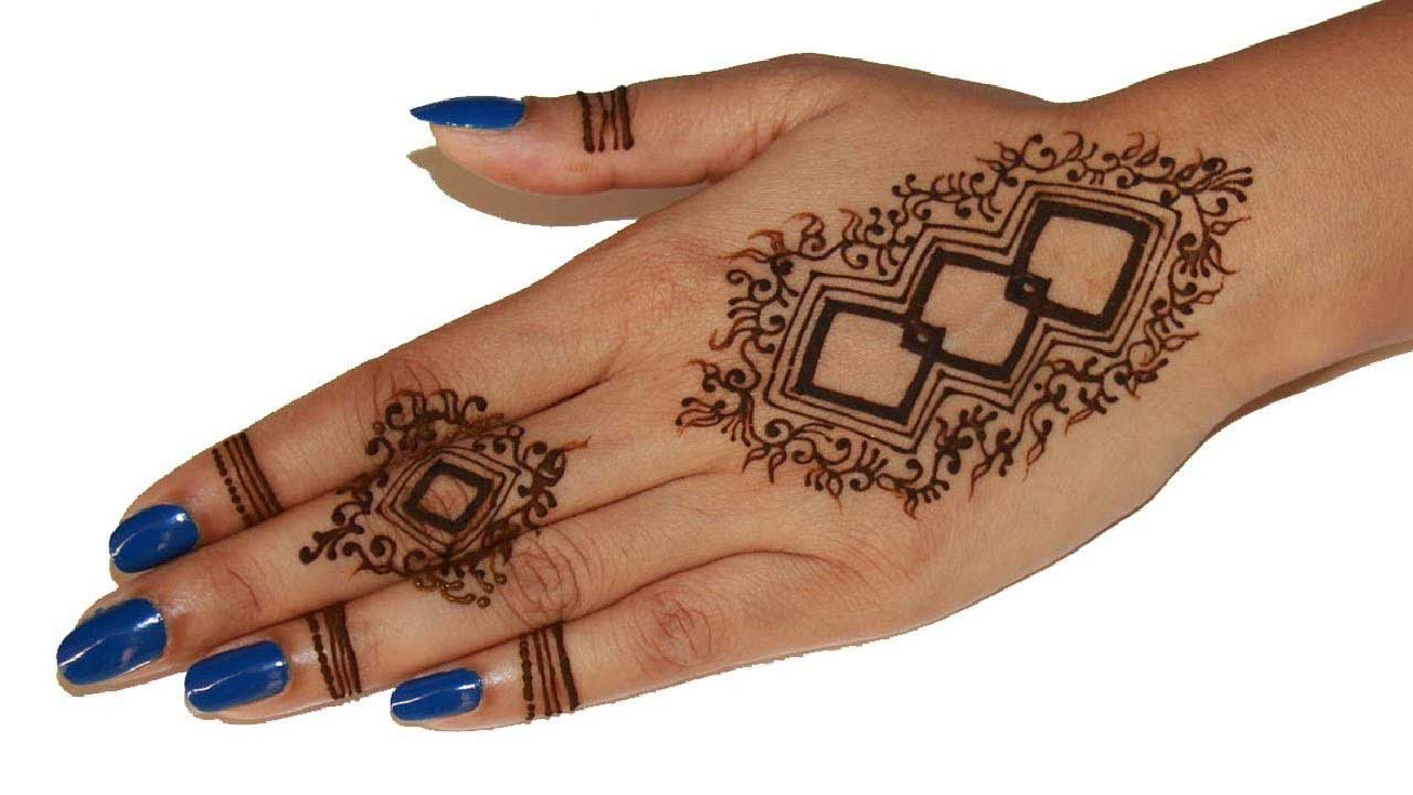 The best mehndi designs for hands livinghours - Such Pakistani Mehndi Designs Indicate That Sometimes Less Is More Just Look At The Elegance Of This Pattern Where Three Interlinked Rhombi And A Single