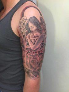 Tattoo Showing Motherly Love