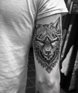 Magnificent Tattoo Wolf