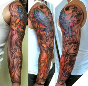 RED BLUE FISH TATOO