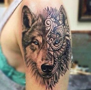 Wolf Face with Two Meanings