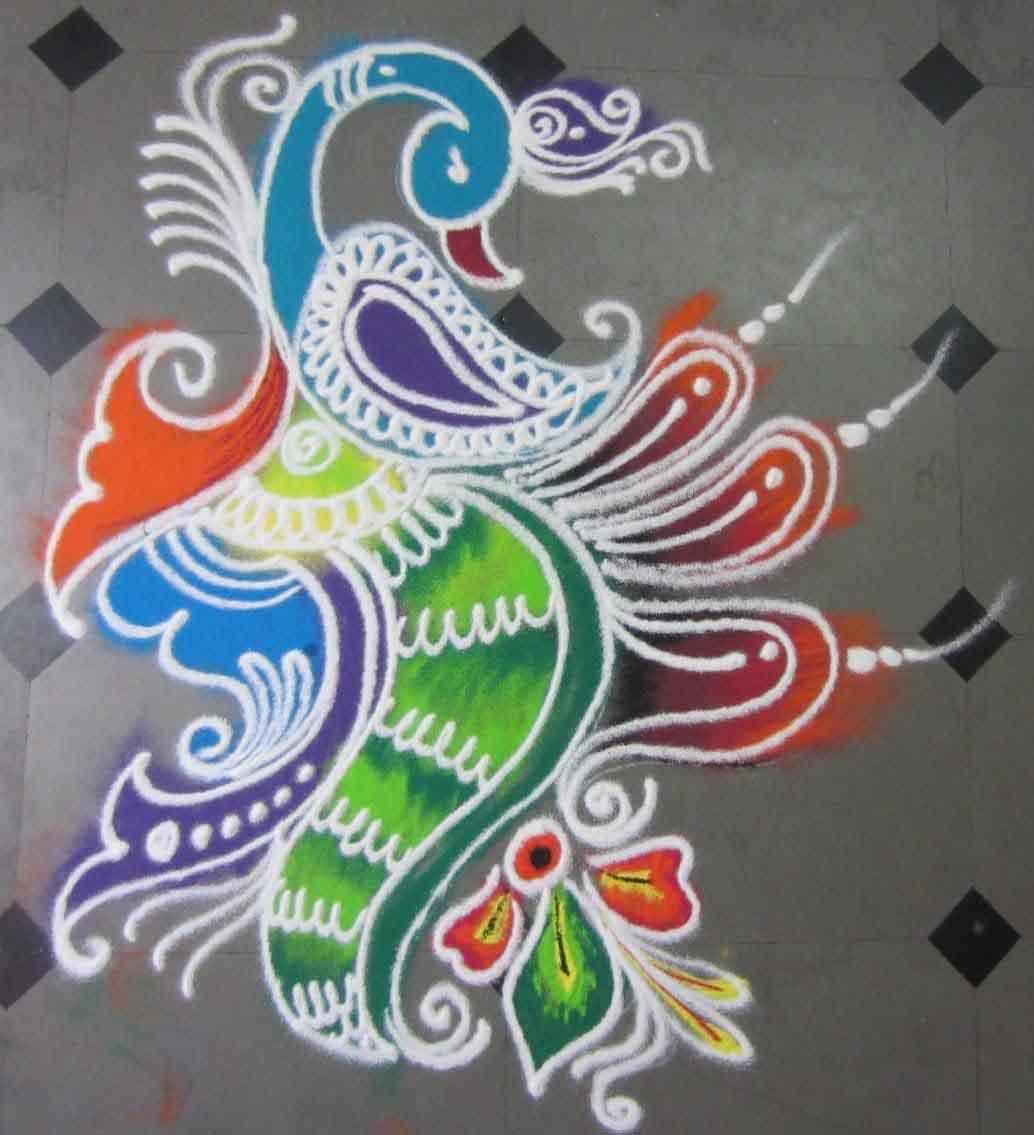 Krishna Rangoli Designs For Janmashtami Livinghours