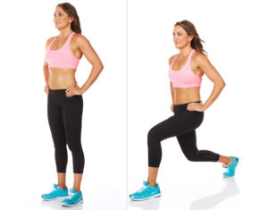 Backward stepping lunge