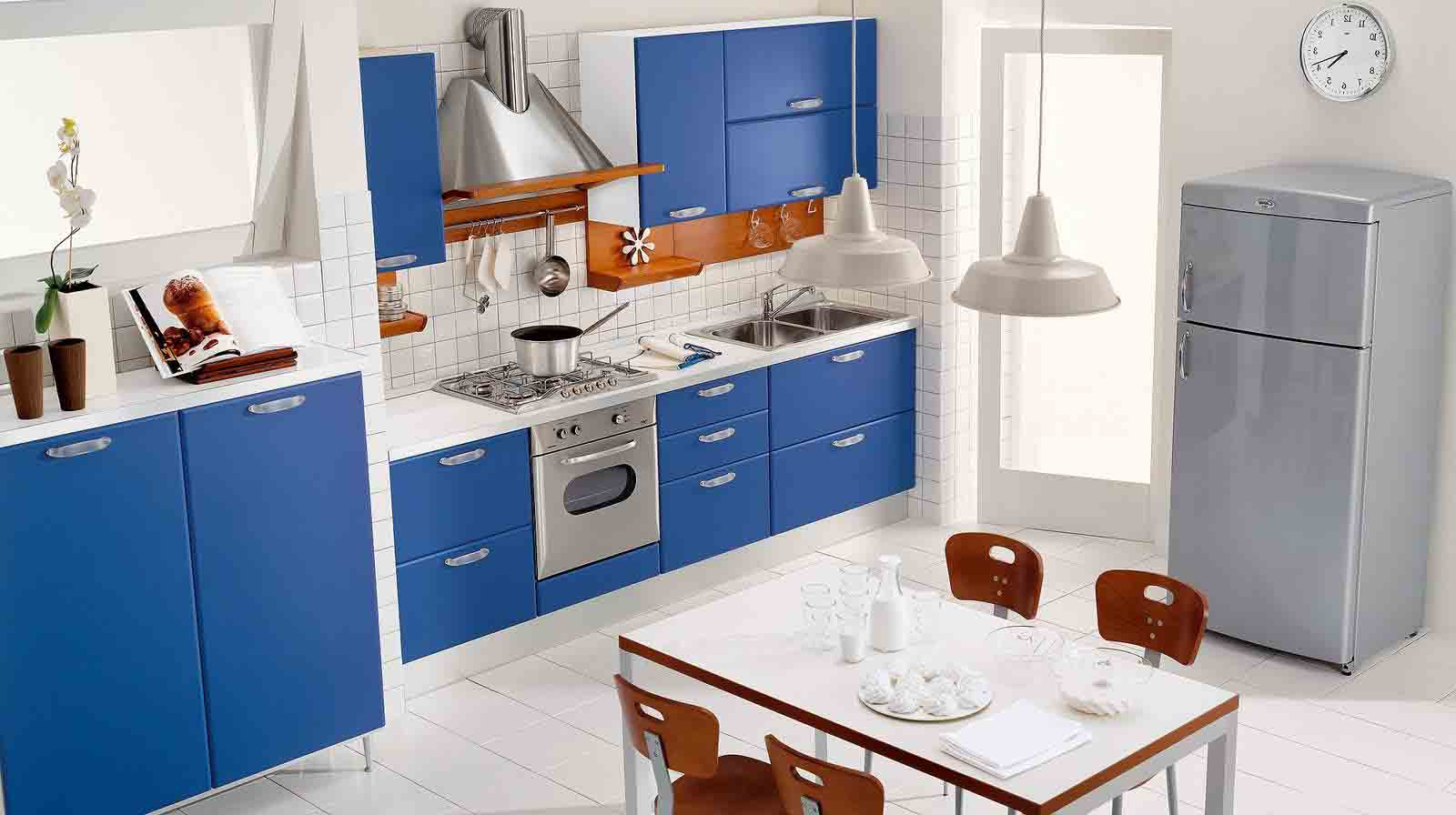 Kitchen make your kitchen dazzle with pertaining to kitchen design - Blue And White Kitchen