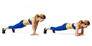 Forearm Crossover Pushup