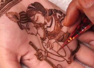 Krishna mehndi designs