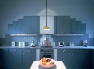 Royal blue theme kitchen