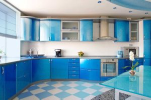 all blue kitchen design
