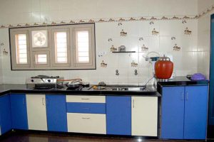 blue modular kitchen cabinets