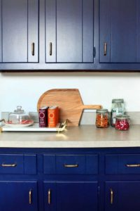classic blue kitchen cabinets
