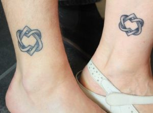 entangled hearts sister tattoo