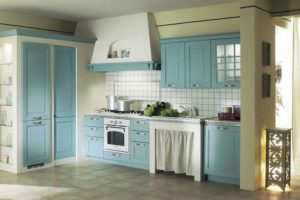 exquisite light blue kitchen