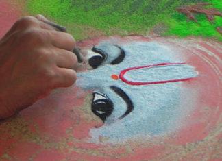 krishna rangoli designs