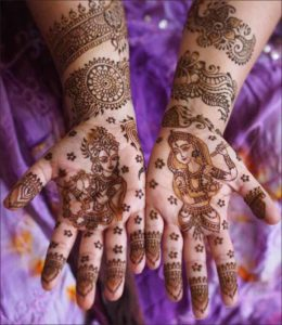 Magical Krishna Mehndi design