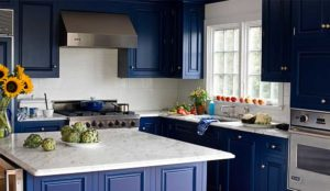 midnight blue kitchen decor