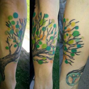 nature art tattoo