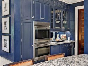 novel navy blue kitchen