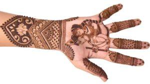 Radha Krishna Designer Mehndi
