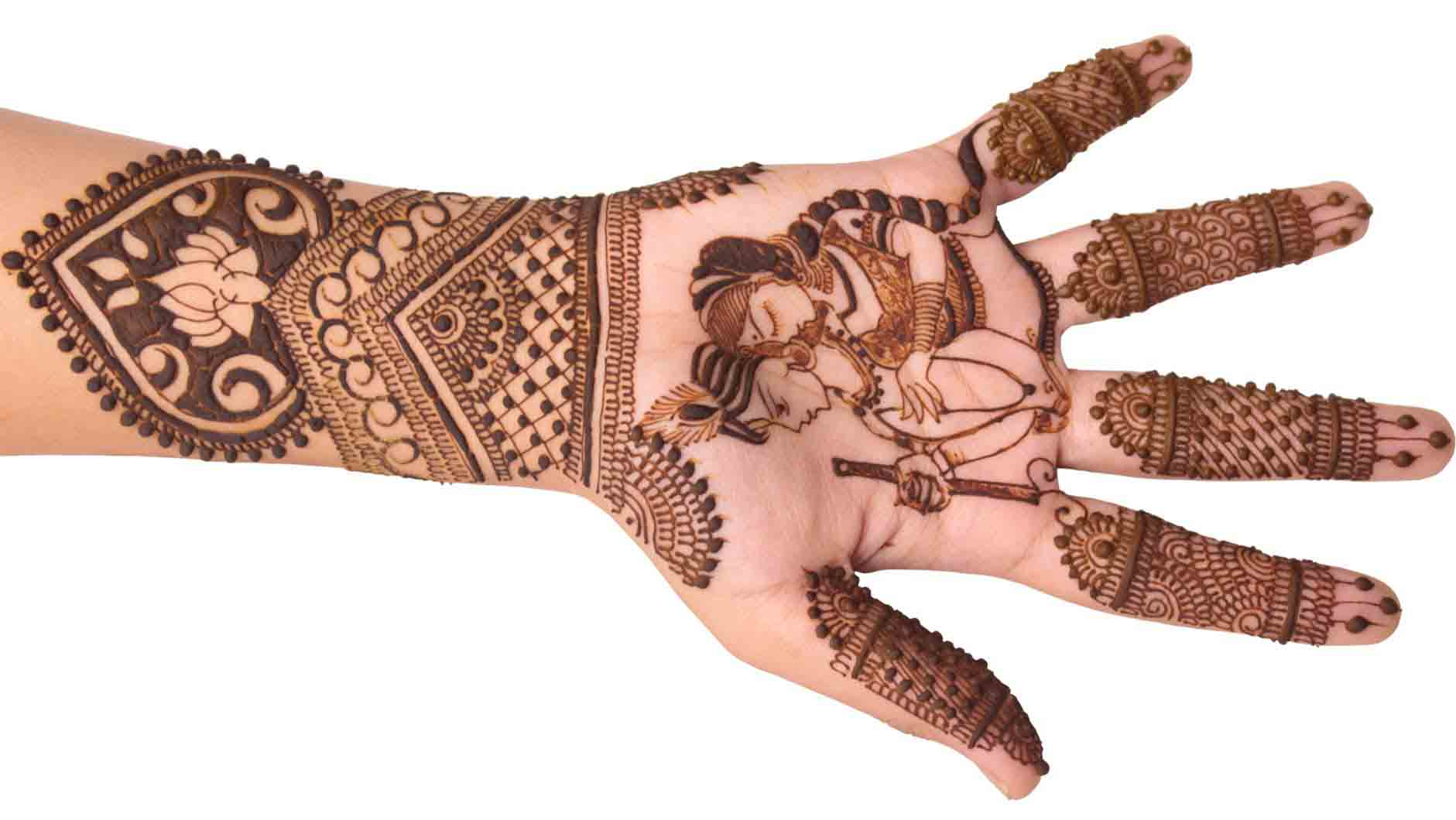 The best mehndi designs for hands livinghours - Radha Krishna Designer Mehndi The