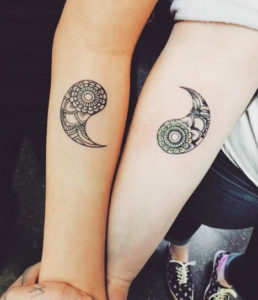 yin and yang sister tattoo