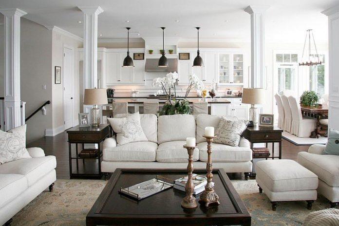 antique-white-living-room