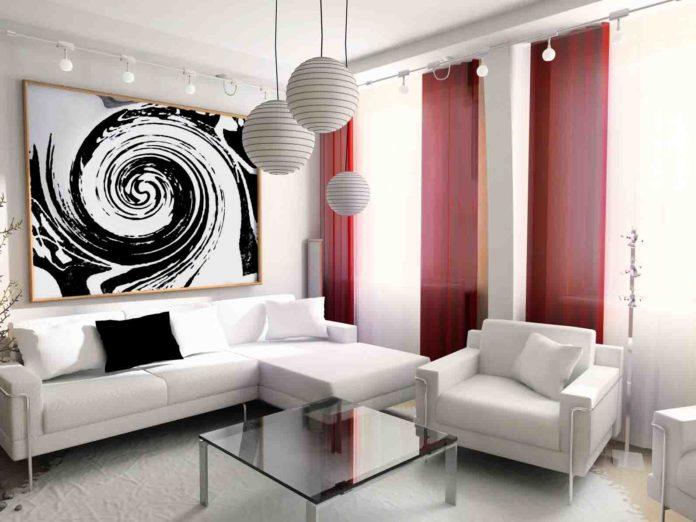 Artistic White Living Room Design