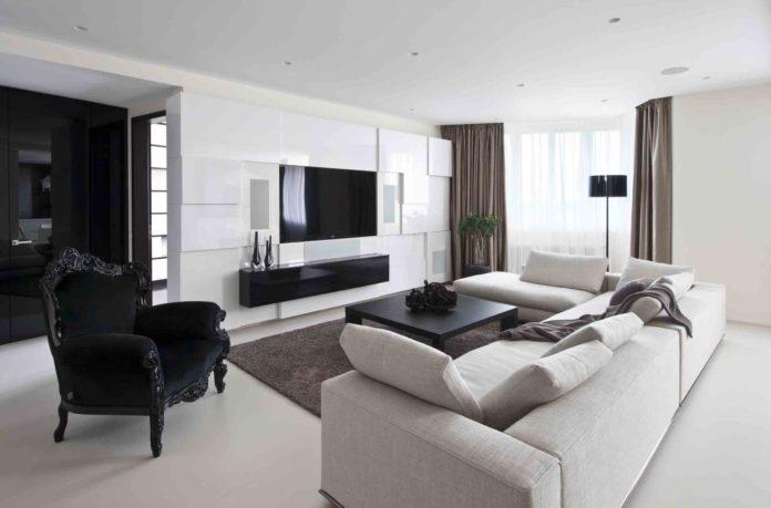 beautiful-black-in-white-living-room