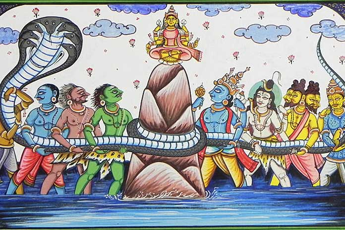 birth-of-goddess-laxmi-from-samudra-manthan