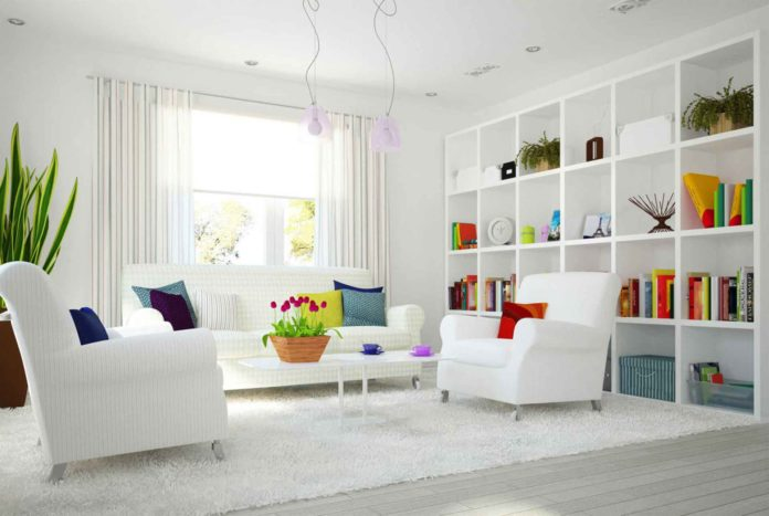 colorful-white-living-room