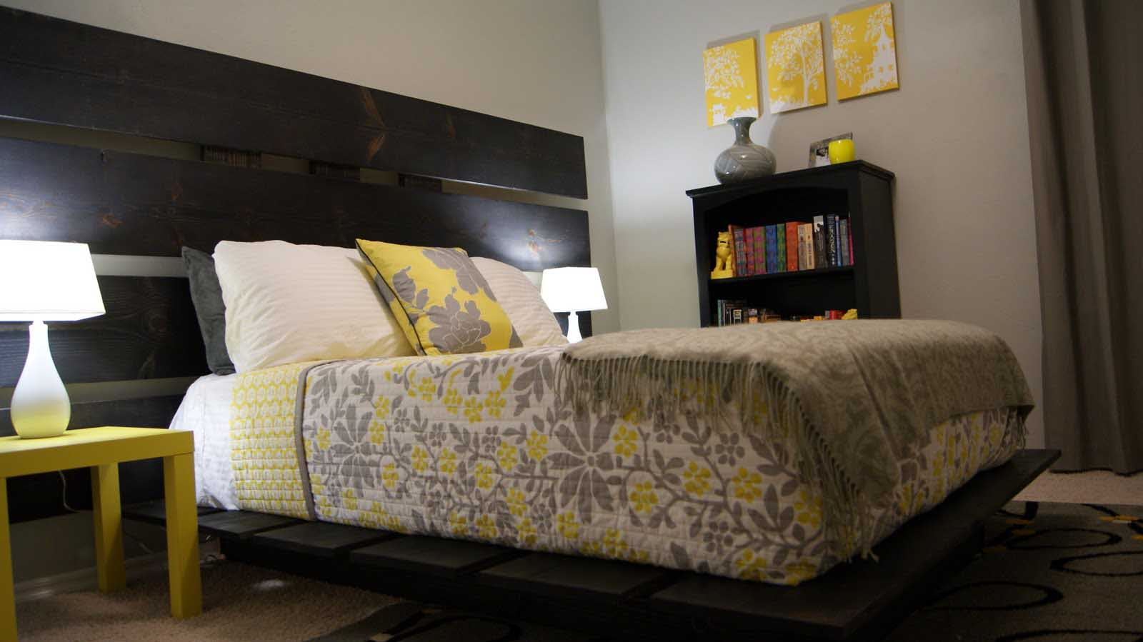 Elegant Comfy Grey And Yellow Bedroom Amazing Ideas