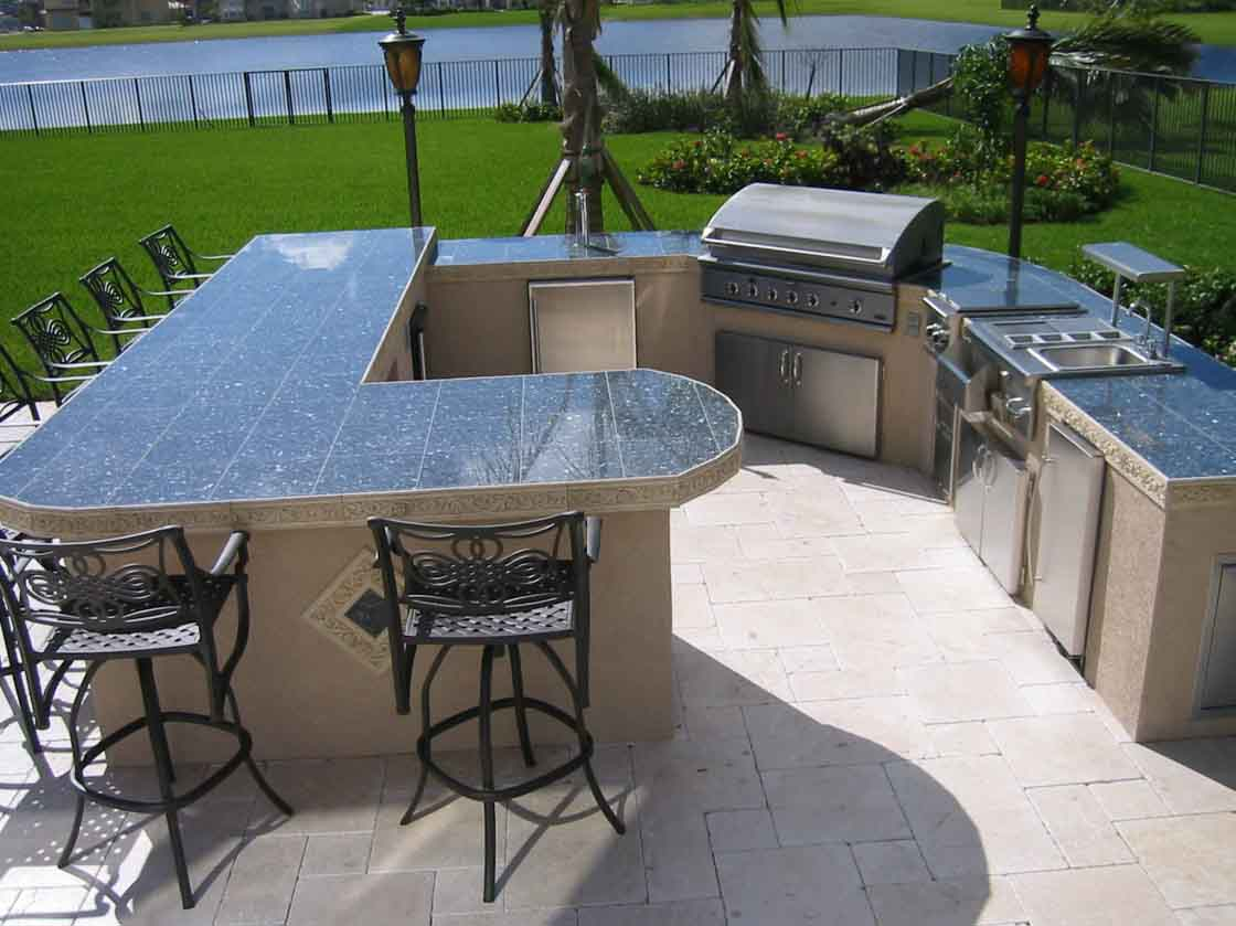 Countertop For Outdoor Kitchen Beautiful Outdoor Kitchen Ideas Which Are Pure Inspiration