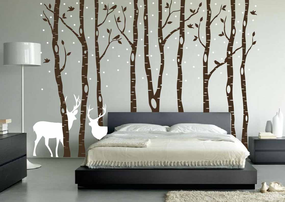 Forest Bedroom Wallpaper Idea