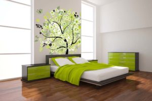 gorgeous-green-bedroom-wallpaper