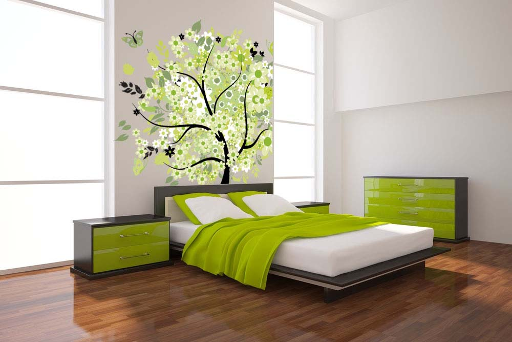 Gorgeous Green Bedroom Wallpaper