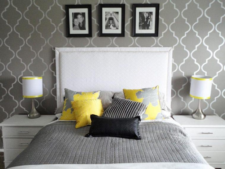 grey-bedroom-with-yellow-glow