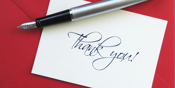 Hand Written Thank You Letter