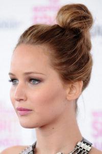 jennifer-lawrence-top-knot-hair-style