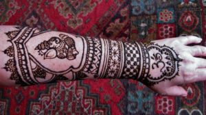 Magnificent mehndi of Ganesh