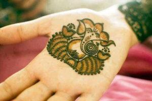 Miniature mehndi design of Ganesh