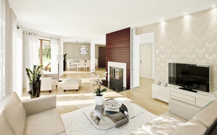 modern-white-living-room-with-wallpaper