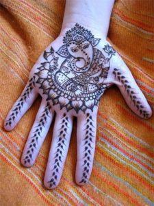 Pretty Palm Ganesh Mehndi