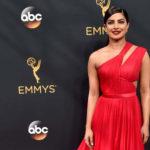 Priyanka Chopra In Red Dress at 68th Emmy Awards 2016