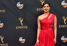 Priyanka Chopra In Red Dress at 68th Emmy Awards 2016