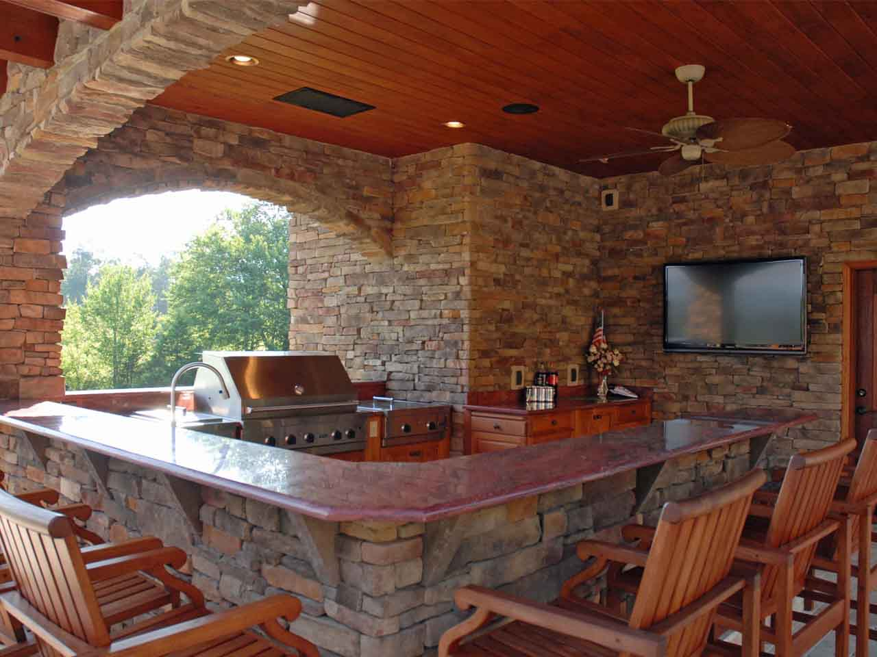 Rustic Outdoor Kitchen Beautiful Outdoor Kitchen Ideas Which Are Pure Inspiration