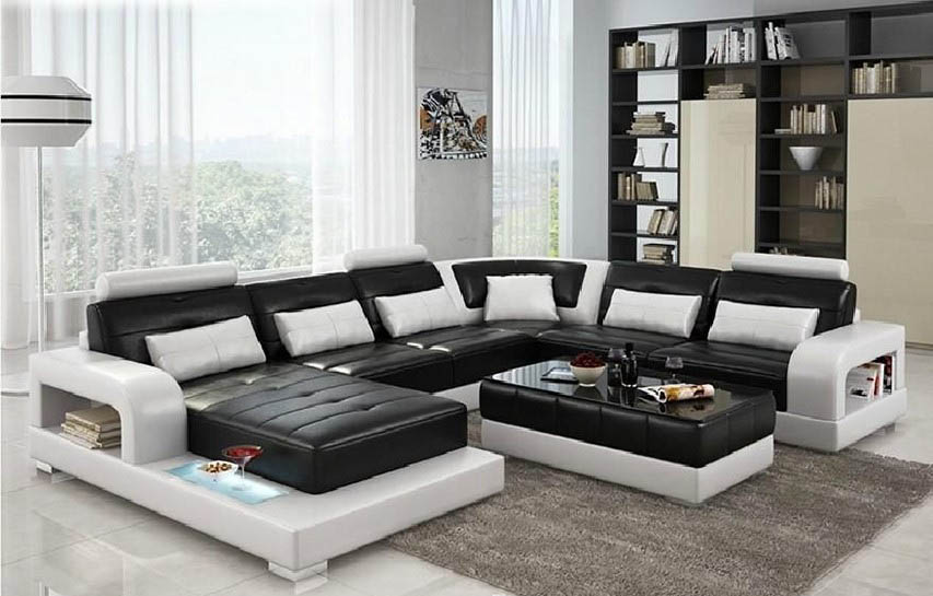 Retro Black And White Living Room